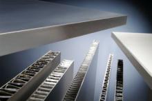 Панели для чистых помещений с наполнением из сотового алюминия